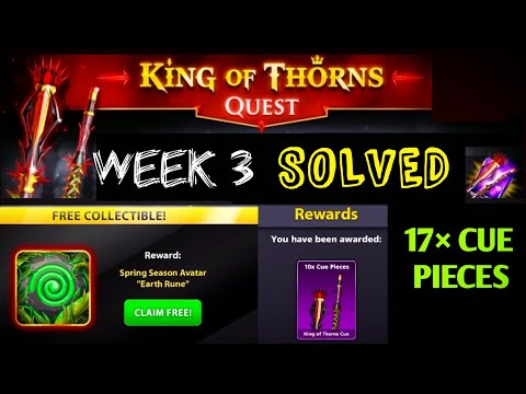 8 ball pool king of thorns cue riddles