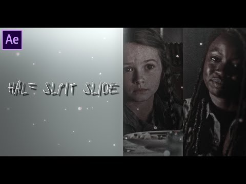 Half Split Slide [After Effects Tutorial]