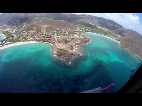 Helicopter tour round Island, Antigua.