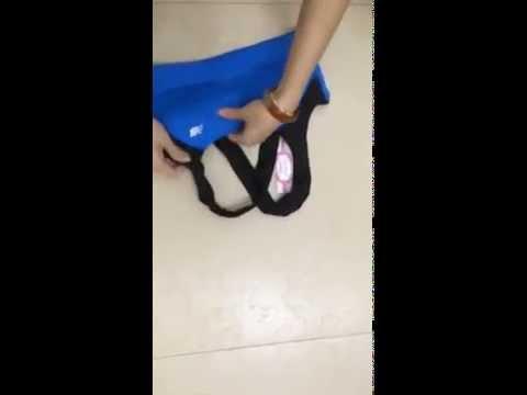 Hướng dẫn các chị em cách cho lót ngực vào trong áo tập Kensport