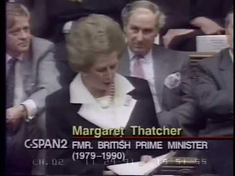 Thatcher Killing The Single Currency And Spanking Major Govt