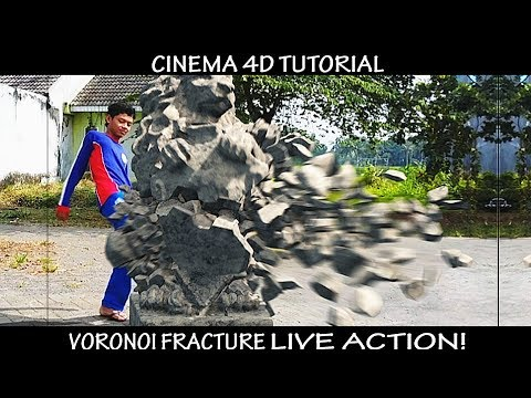 Cinema 4D || How to Voronoi Fracture with Live Action Tutorial! || (Destroy Anything in One Touch)