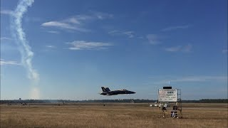 Blue Angels Sneak Pass Homecoming Airshow 2017