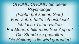 Rosenstolz - Die Psychologin Lyrics