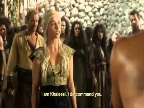 Khal Drogo fighting with the rebel - Game of Thrones - Czech Subtitles -  Hra o Trůny