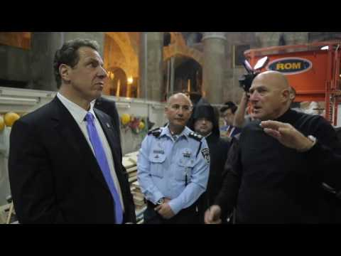 Governor Cuomo Tours the Church of the Holy Sepulchre and the Western Wall with Dr. Chaim Cohen