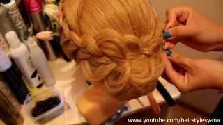 Причёска на среднюю длину волос