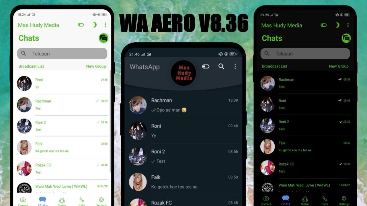 Tampilan WhatsApp Ios / WhatsApp Aero Terbaru v8.36 - YouTube