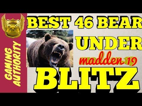 MADDEN 19 46 BEAR UNDER BEST BLITZ 🔥HEAT  BEST DEFENSE FOR