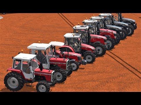 ALL MASSEY FERGUSON TRACTORS   FARM 2017🚜🚜🚜