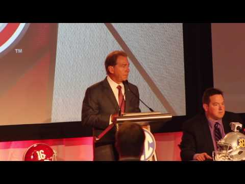 Alabama head coach Nick Saban at SEC Media Days 2017 - FULL Press Conference