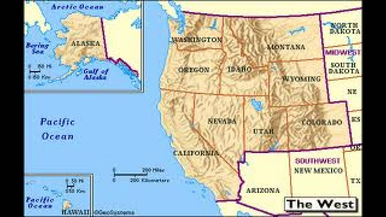 West Region Of The United States Of America US Regions Ep YouTube - Map of western region of us