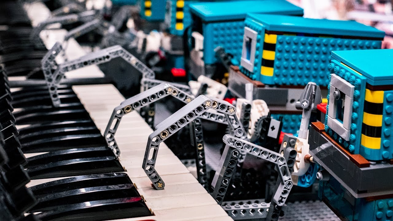 Star Wars Theme Played by LEGO Droid Orchestra