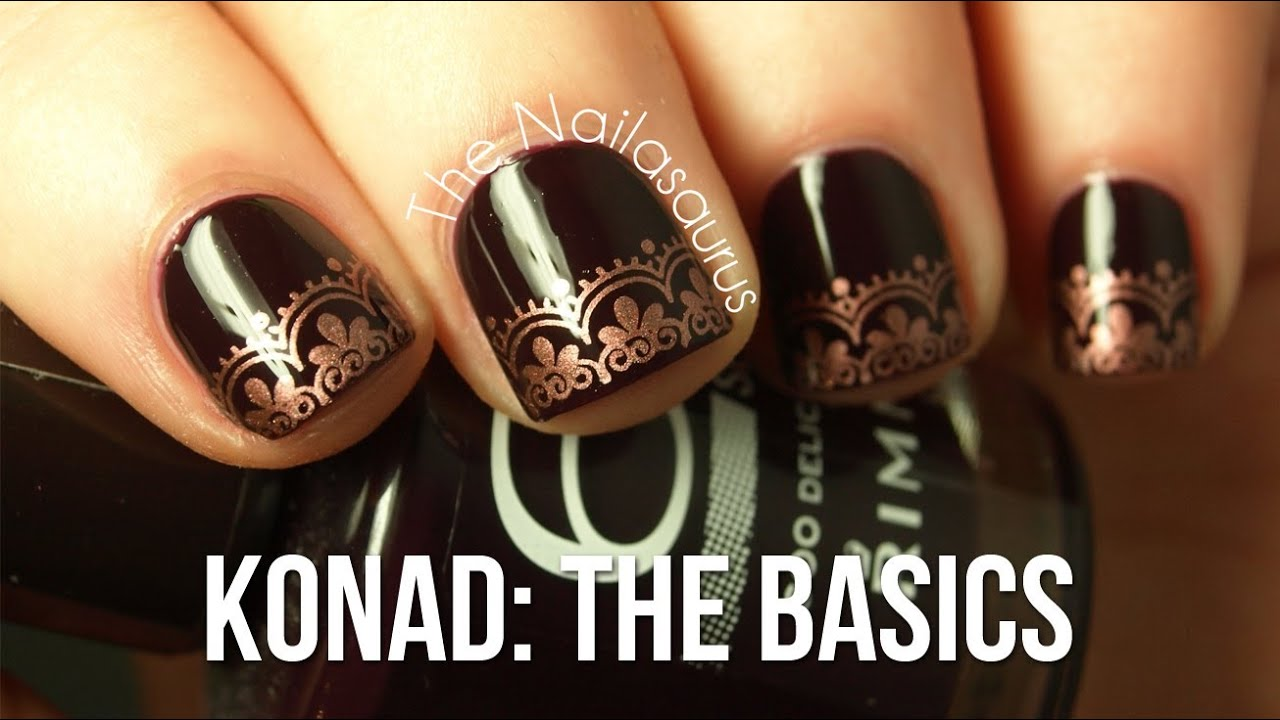 The Basics Of Konad And Bundle Monster Nail Art Stamping Youtube