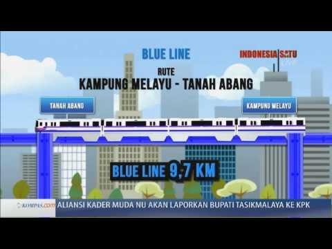 Ilustrasi Jalur Monorail Jakarta - Kompas Siang 16 Oktober 2013