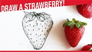 How To Draw A Strawberry! Draw Fruits!
