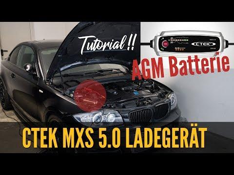 CTEK MXS 5.0 Ladegerät - REVIEW | AGM Autobatterie Laden TUTORIAL |  CTEK MXS 5 Test