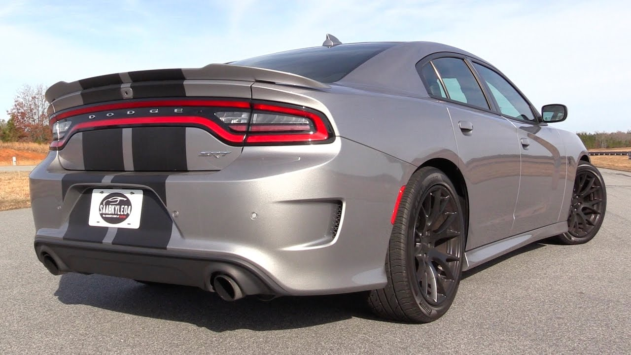 pure sound dodge charger srt hellcat cold start revs track driving more