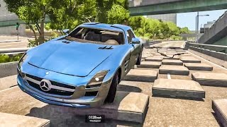 SPEEDBUMPS AT 200MPH #2 - BeamNG Drive Crashes
