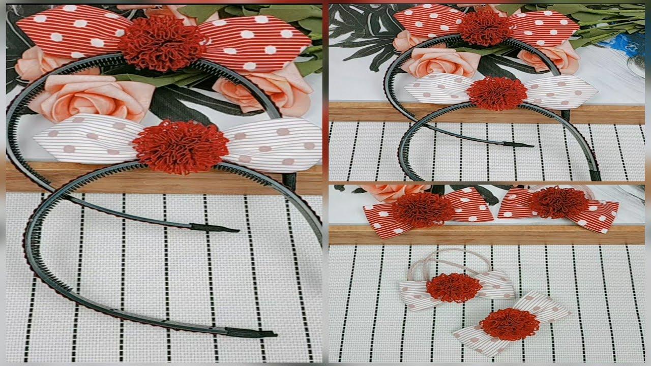 Kẹp tóc 05 | Hướng dẫn chi tiết làm kẹp tóc handmade ruy băng | DIY hairpin