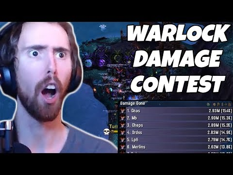 Asmongold Hosts Demo Warlock Damage Contest