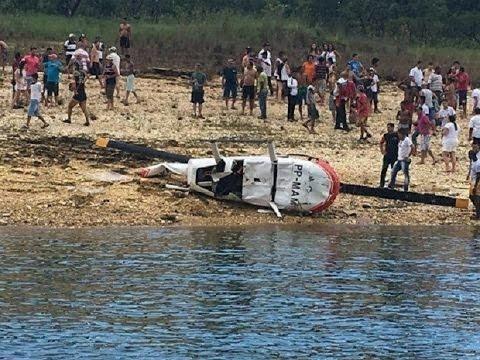Sobrevivente de queda de helicóptero em Capitólio relata pânico e sirenes durante voo
