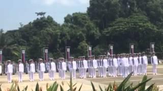Lieutenant-General Ng Chee Meng inspecting the full regalia parade
