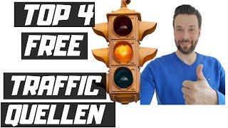 4 TOP FREE TRAFFIC QUELLEN - Affiliate Marketing ohne Startkapital mit Youtube, Quora, udemy, FB