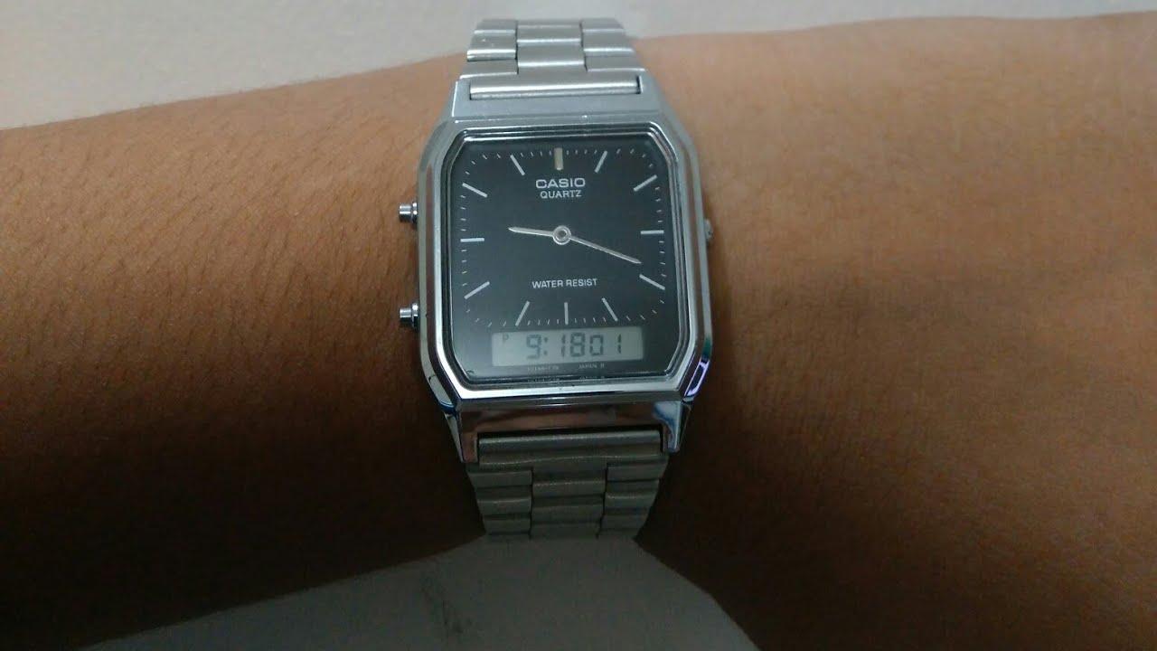 Casio AQ 230 wristwatch 2012 2013, Functions