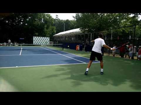 Horia Tecau at Citi Open 2016 practice courts