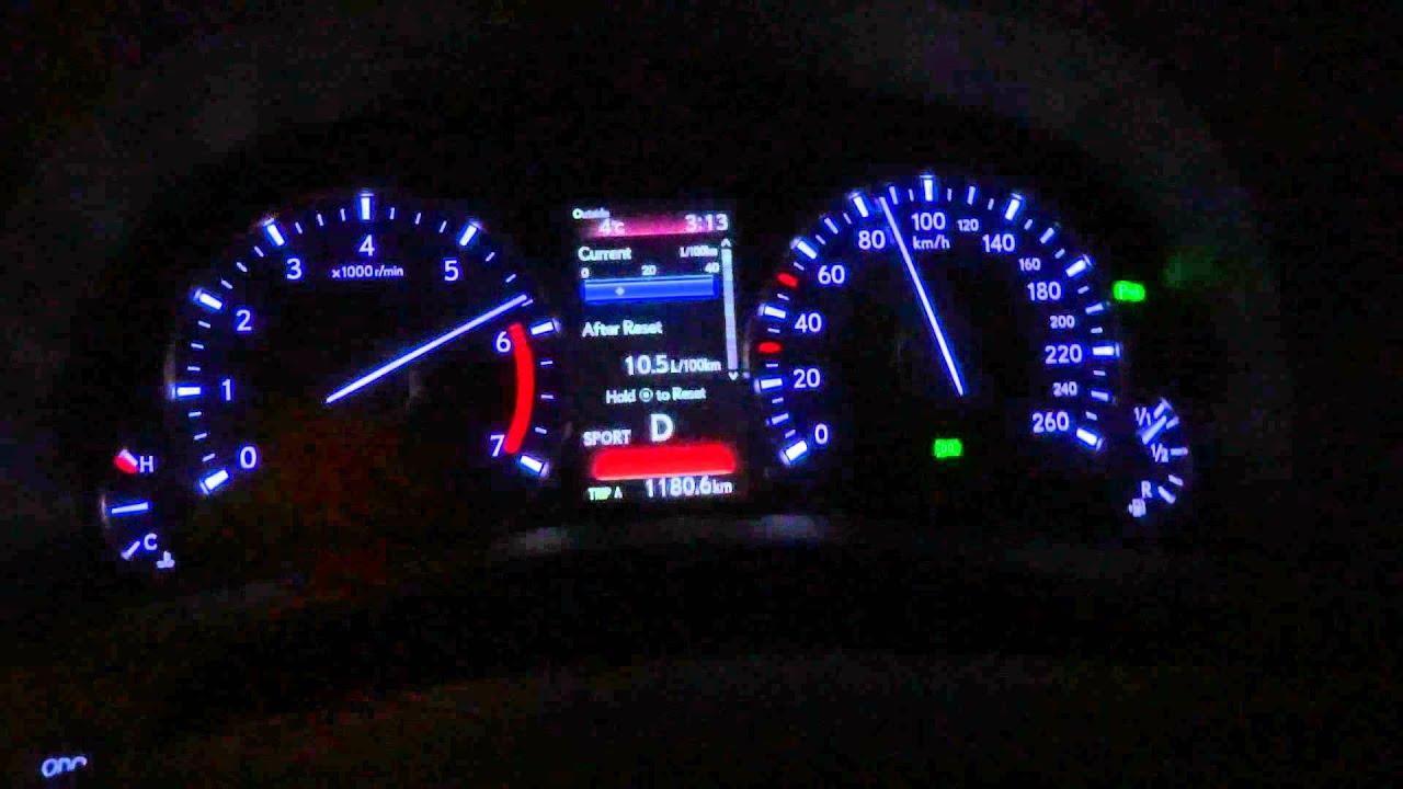 2016 Lexus Gs 200t Acceleration Test 0 100 Km H 60 Mph On Wet