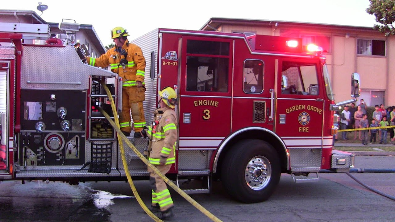 Apartment Fire Displaces 2 Families In Garden Grove Youtube