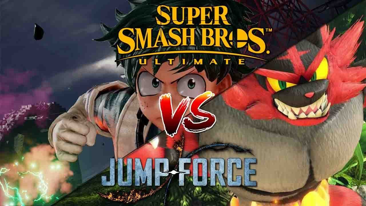 Super Smash Bros Ultimate vs Jump Force Video Games Vs Manga Crossover