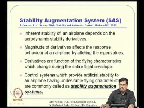 Mod-12 Lec-30 Linear Control Design Techniques in Aircraft Control -- I