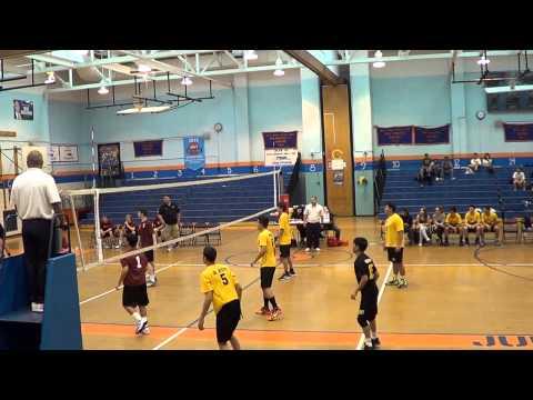 Cardozo Boy's Volleyball Tournament: Grover Cleveland vs Regis (4/18/15)