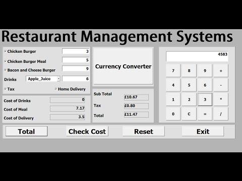 Excel VBA Restaurant Management Systems - Full Tutorial