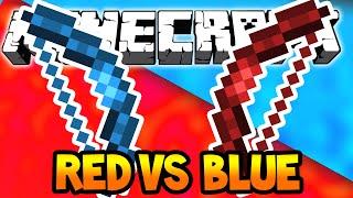 Minecraft Red Vs Blue War! w/Lachlan and Preston!