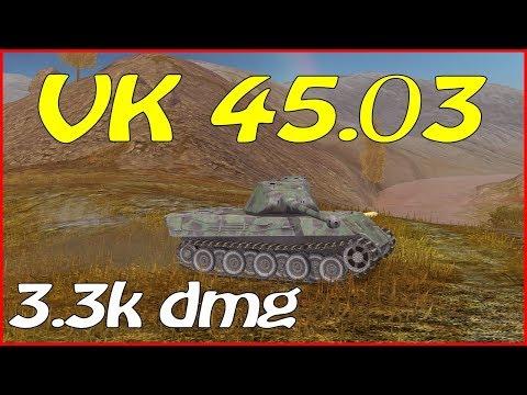WOT Blitz / VK 45.03 / 3 Frags / 3.3k Dmg