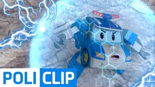 CAUTION LIGHTNING (Korean) | Robocar Poli Clips