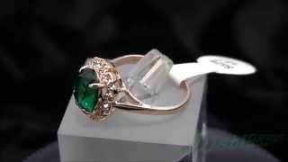 Позолоченное кольцо Изумрудная капля(Позолоченное кольцо Изумрудная капля покрыто желтым золотом 750 пробы (18K Gold Plated) кольцо с большим зеленым..., 2014-11-19T12:54:45.000Z)
