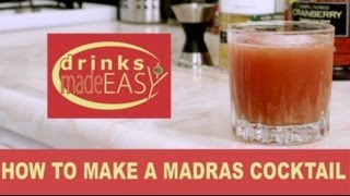 How To Make A Madras Mixed Drink Cocktail-drinks Made Easy