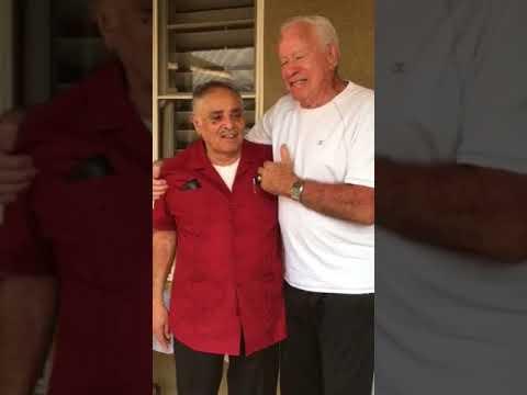 Familia Aguilar celebrating Pastor David's 75th Bday