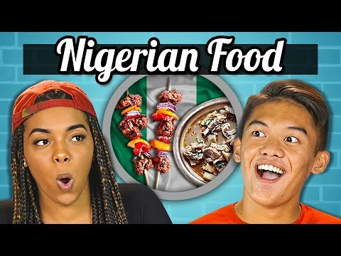 TEENS EAT NIGERIAN FOOD | Teens Vs. Food