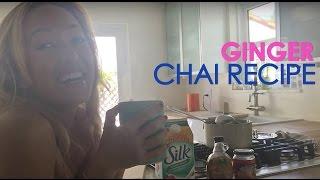 Yoga Kitchen: Ginger Maca Chai Recipe with Organic Silk by Kino