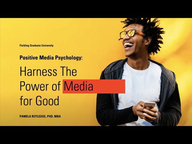 Positive Media Psychology webinar