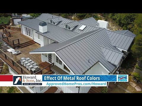 Effect Of Metal Roof Colors Youtube