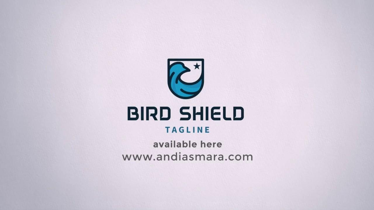 Bird Shield Logo Template - YouTube