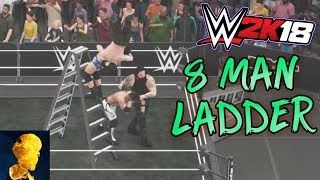 WWE 2K18 Exclusive Footage: 8 Man Ladder Match featuring AJ Styles for the New NXT Championship