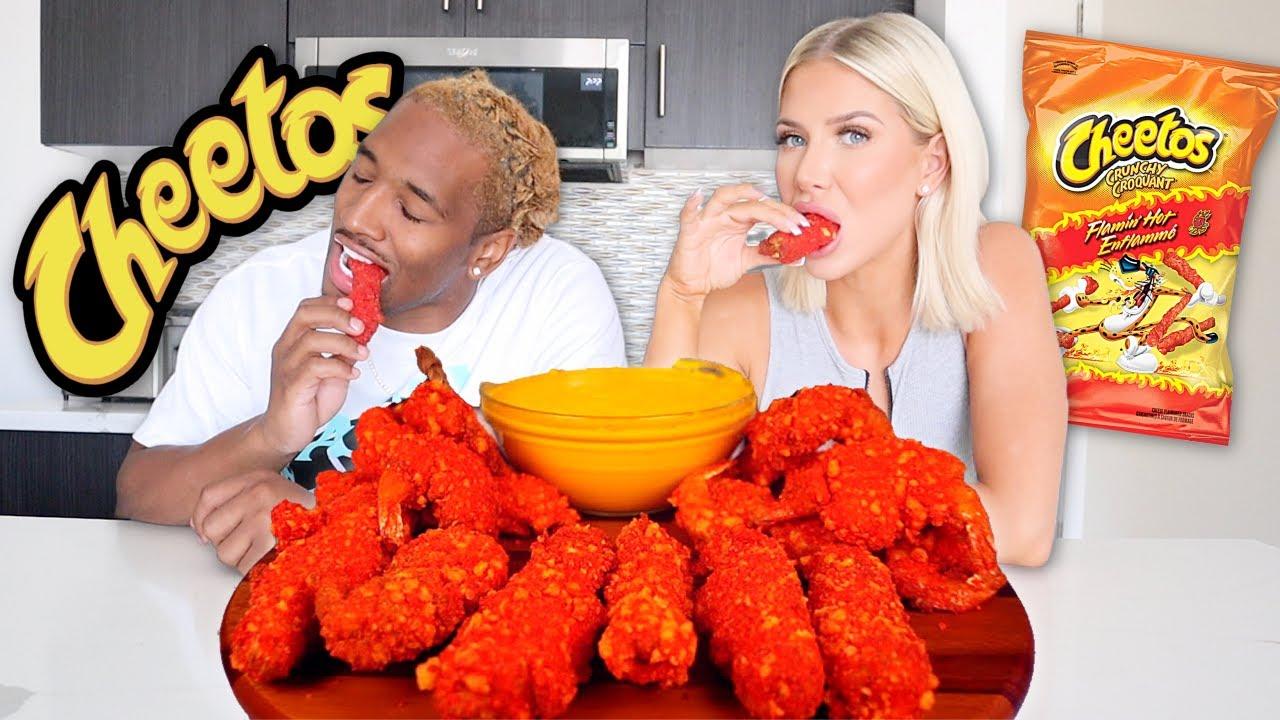 HOT CHEETOS KING CRAB MUKBANG | COOK AND EAT | Charles & Alyssa Forever