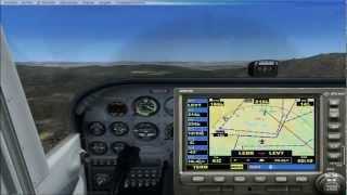 TUTORIALES FSX / Capitulo 4 : Aterrizaje visual (VFR)  + indicaciones  alinearse a pista ( español)